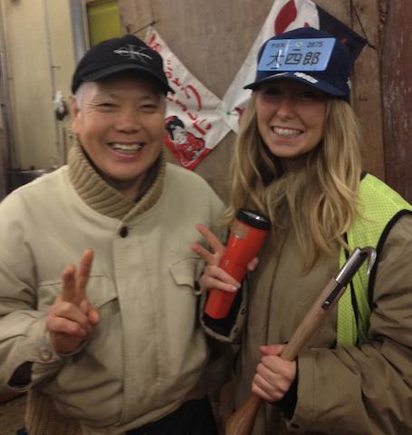 Alina Alexandra Heimgartner in Tsukiji