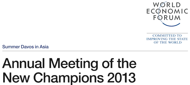 Annual Meeting of the New Champions 2013