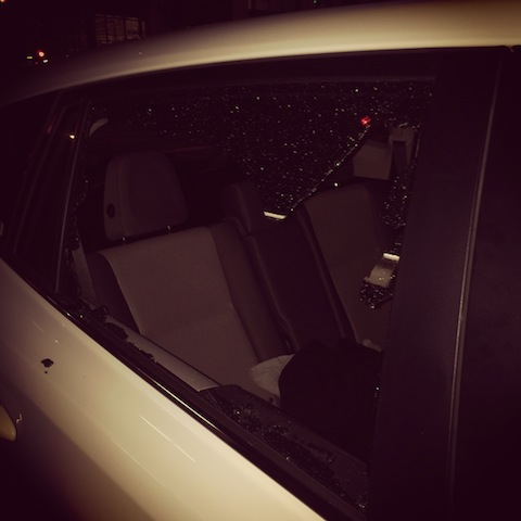 car window smashed