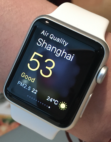 Apple Watch Air Quality App