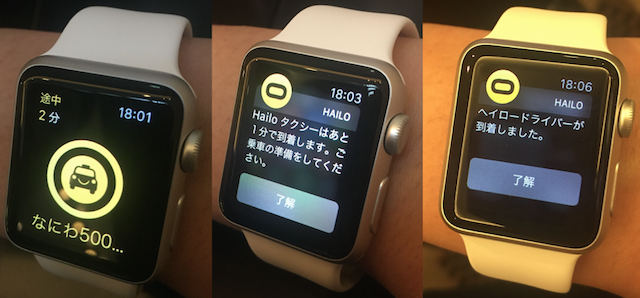 Apple Watch Hailo App 2