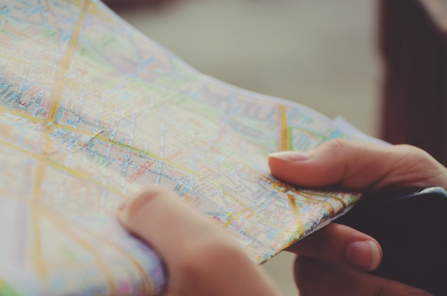 Map and Smartphone